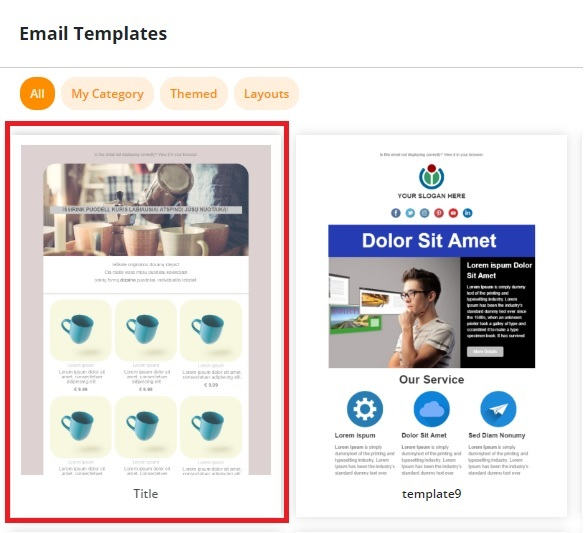 email templates library