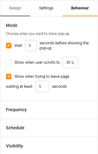 popup behavior